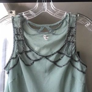 NWOT Willow & Clay embellished top